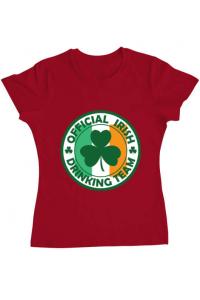 Sacosa din panza Irish Drinking Team Rosu
