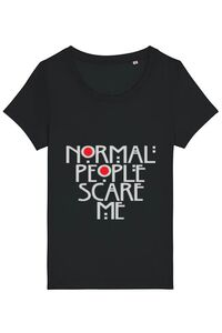 Masca personalizata reutilizabila Normal people scare me Negru