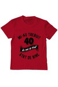 Tricou ADLER dama 40 de ani Rosu