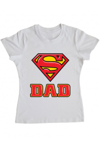 Baby body Super Dad Alb