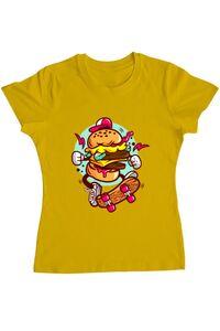 Sacosa din panza Burger Skater Galben