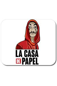 Cana personalizata Money heist Alb