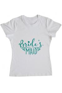Perna personalizata Brides maid Alb