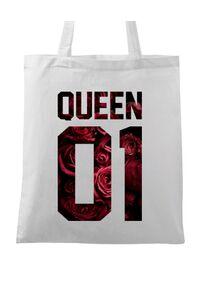 Masca personalizata reutilizabila Flower queen Alb