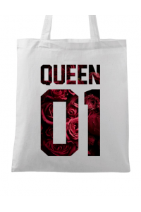 Cana personalizata Flower queen Alb