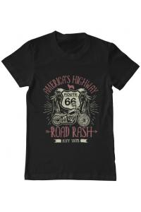 Tricou ADLER copil Highway 66 Negru