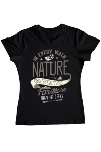 Tricou ADLER copil Walk of nature Negru