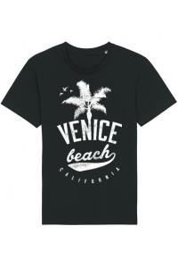 Tricou ADLER copil Venice beach California Negru