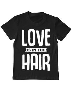 Tricou ADLER copil Love is in the hair Negru