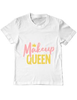 Tricou ADLER copil Makeup queen Alb