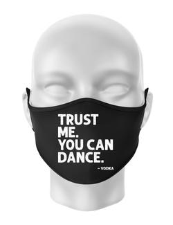 Masca personalizata reutilizabila You can dance Negru