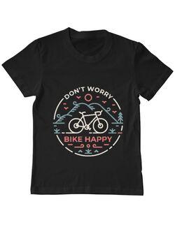 Tricou ADLER copil Don't worry bike happy Negru
