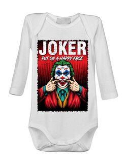 Baby body Joker happy face Alb