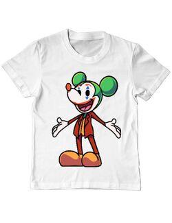 Tricou ADLER copil Joker Mouse Alb