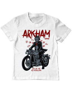 Tricou ADLER copil Arkham garage Alb