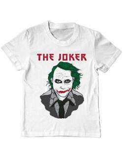 Tricou ADLER copil The joker Alb