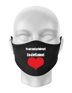 Masca personalizata reutilizabila Bulevard Campina Negru
