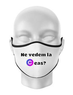 Masca personalizata reutilizabila Ceas Alb