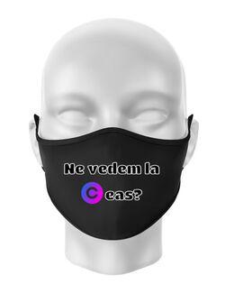 Masca personalizata reutilizabila Ceas Negru