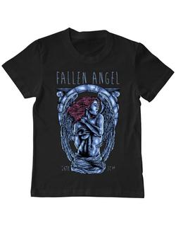 Tricou ADLER copil Fallen angel Negru