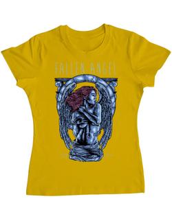 Tricou ADLER dama Fallen angel Galben