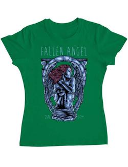 Tricou ADLER dama Fallen angel Verde mediu