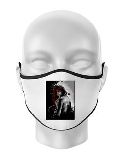 Masca personalizata reutilizabila Solitude Alb