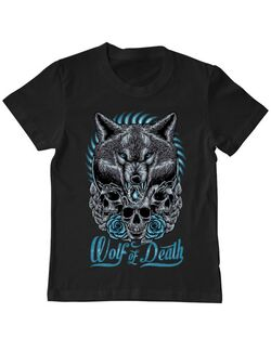 Tricou ADLER copil Wolf of death Negru