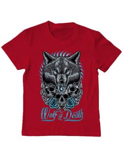 Tricou ADLER copil Wolf of death Rosu