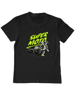 Tricou ADLER copil Super Moto Negru