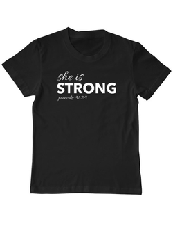 Tricou ADLER copil She is Strong Negru