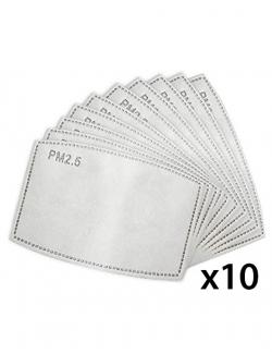 Set 10 filtre tip PM2.5 pentru masti reutilizabile