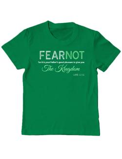 Tricou ADLER copil FEAR NOT Verde mediu