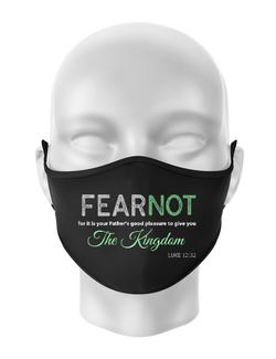 Masca personalizata reutilizabila FEAR NOT Negru
