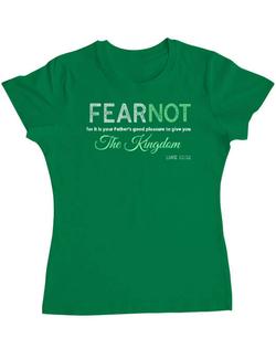 Tricou ADLER dama FEAR NOT Verde mediu