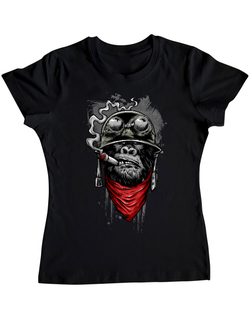 Tricou ADLER dama Ape of duty Negru