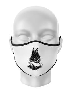 Masca personalizata reutilizabila Bearware Alb