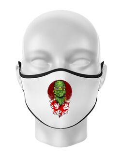 Masca personalizata reutilizabila Frank holiday Alb