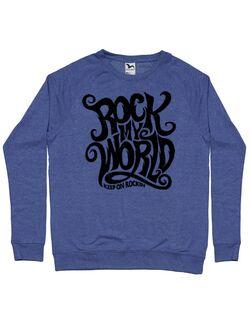 Bluza ADLER barbat Rock my world Albastru melanj