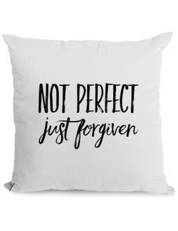 Perna personalizata Not Perfect Just Forgiven Alb