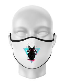 Masca personalizata reutilizabila Cathulhu Alb
