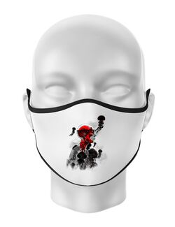 Masca personalizata reutilizabila Control Alb