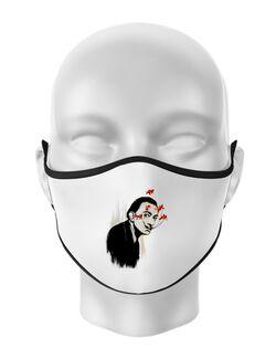 Masca personalizata reutilizabila Lift that moustache Alb