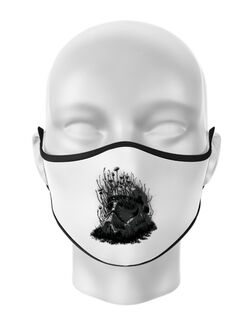 Masca personalizata reutilizabila Shroom trooper Alb