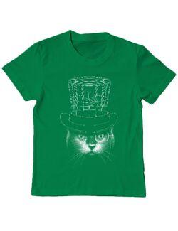 Tricou ADLER copil Under my hat Verde mediu