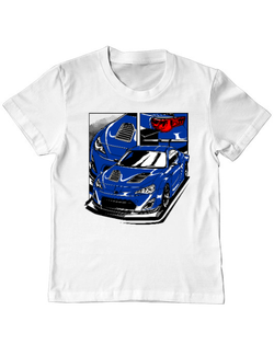 Tricou ADLER copil Blue GT Alb