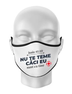Masca personalizata reutilizabila Nu Te Teme Alb