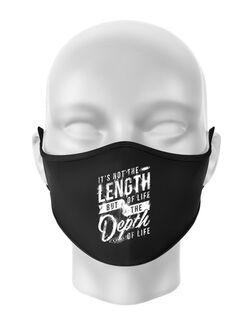 Masca personalizata reutilizabila Depth of life Negru