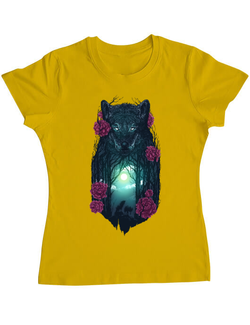 Tricou ADLER dama Running with the wolves Galben