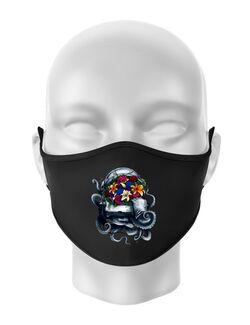 Masca personalizata reutilizabila Space bloom Negru